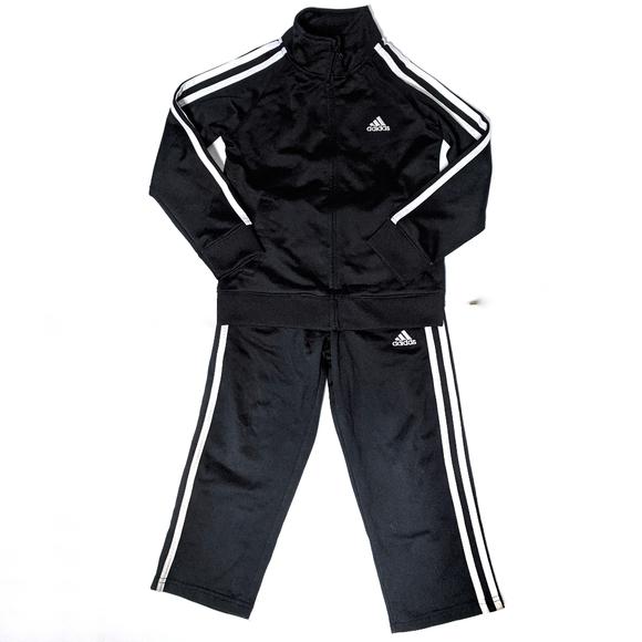 Adidas Track Suit Black Striped sz 5 Unisex